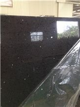 Chinese Quartz Stone Slabs, Black Quartz Stone with Crystal, Black Caesarstone