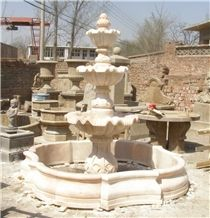 Hunan White Marble Garden Fountains, China White Marble Water Features Exterior Fountains, Sculptured Fountains