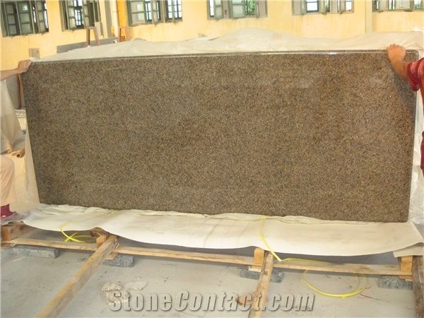 Tropical Brown Granite Kitchen Countertops Saudi Arabia