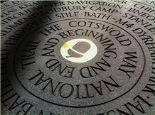 Irish Blue Limestone Circular Stone Markers