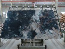 Smoky Black Marble Tile & Slab, Venice Gold Marble