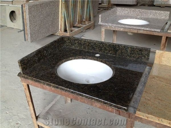 Verde Ubatuba Granite Sinks Basins Bathroom From