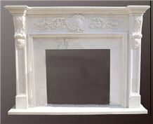 Building Material China White Marble Fireplace,Inner Decoration,Hand Carve Fireplace,Wholesaler-Xiamen Songjia