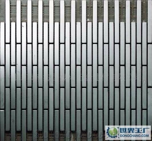 c6f522bd176af China Factory Price Metal Mosaic Tile for Floor Paving and Wall  Cladding