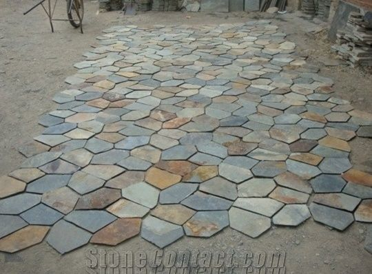 Irregular Slate Paving Stone Irregular Flagstones Flagstone Road