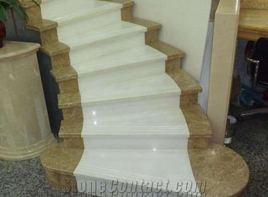 Marble Stone Stairsu0026Steps.,Whiteu0026Brown Marble Stair Decku0026Riser,Beige Stone Stair  Steps,Stone Staircaseu0026Treads,
