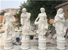 White Marble Stone Religion Virgin Mary Sculpture, Hand Carved Mary Garden Statue,Garden Decoration,Wholesaler-Xiamen Songjia