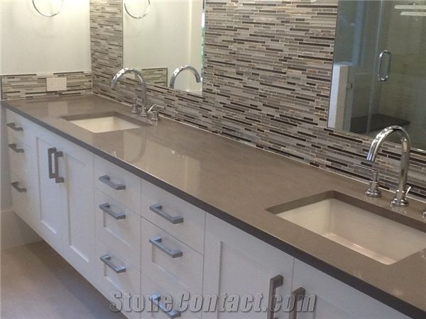 Corian Stone Polished Surfaces Custom Bathroom Vanity Top 2 3cm Thick Available