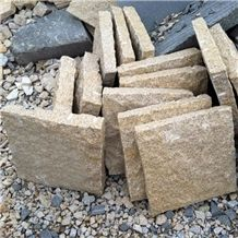 G682 Yellow Granite Cube Stone & Paver, Golden Dune, Sunset Gold Granite Floor Covering, Landsacping Stone