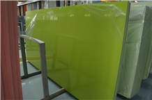 Pure Green Quartz Slabs, Quartz Stone