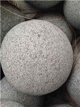 G654 Padang Dark Grey Granite Parking Stone Ball