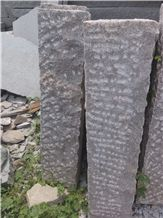 Rough Red Granite Palisades Stone,Fence Stone,