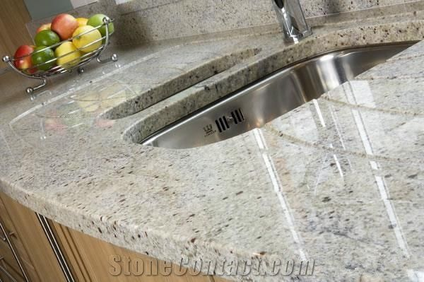 Kashmir White Granite Countertopsprefab Granite Kitchen Countertop