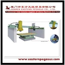 Granite Cutting Machine with 90 or 360 Degree Rotation Worktable, Infrared Automatic Bridge Type Edge Cutting Machine, Tile Cutting Machine 45 Degree Tilt, Cut-To-Size Cutting Machine Tjqh-1000