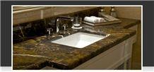 King Gold Marble Bathroom Top