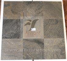 Desert Gold Slate Tiles & Slabs, Brown Slate Flooring Tiles India
