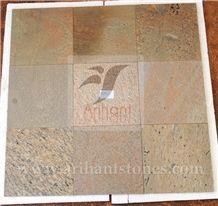 Golden Slates Tiles & Slabs, Yellow Slate Flooring Tiles India