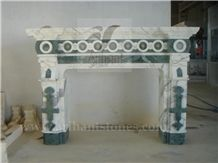 Pattern 2 Fireplace, White Marble Fireplace Decorating India