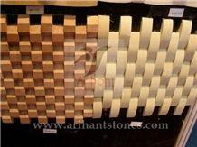 Pattern 5 Mosaics, White Marble Wall Mosaic, Tumbled Mosaic