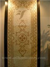 Pattern 6 Mosaics, White Marble Mosaic, Wall Mosaic, Floor Mosaic