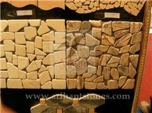Pattern 8 Mosaics, Brown Sandstone Floor Mosaic, Wall Mosaic India