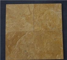 Flower Gold Limestone Brushed Finish Tiles & Slabs, Yellow Limestone Floor Tiles, Wall Tiles