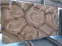 Giallo Flamingo Quartzite Polished Tiles & Slabs, Juparana Flamingo, Palomino Quartzite, Brazilian Exotic Brown Quartzite, Flamenco Gold Quartzite Wall/ Floor Slabs/ Covering, Skirting