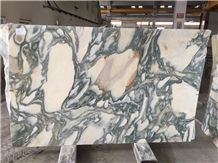 Calacatta Verde Marble Tiles & Slabs, Green Marble Polished Floor Tiles
