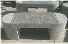 China Grey Granite Garden Bench