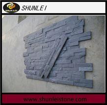 China Grey Slate Cultured Stone,Cheap Mini Panel Chinese Slate Stone Wall Panel, Ledge Stone Veneer Clearance