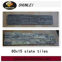 China Grey Slate Cultured Stone,Wall Cladding Stone