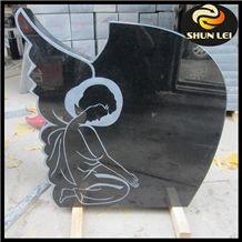 China Shanxi Black Granite Polished Monument