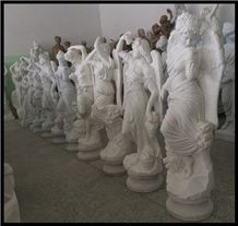 Hand Carved White Marble Hunan Marble Stone Sichuan White Marble Large Angel Statues
