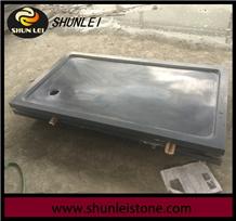 Honed Shanxi Black Granite Shower Pans