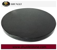 Round Absolute Black Granite Cheese Cutting Board