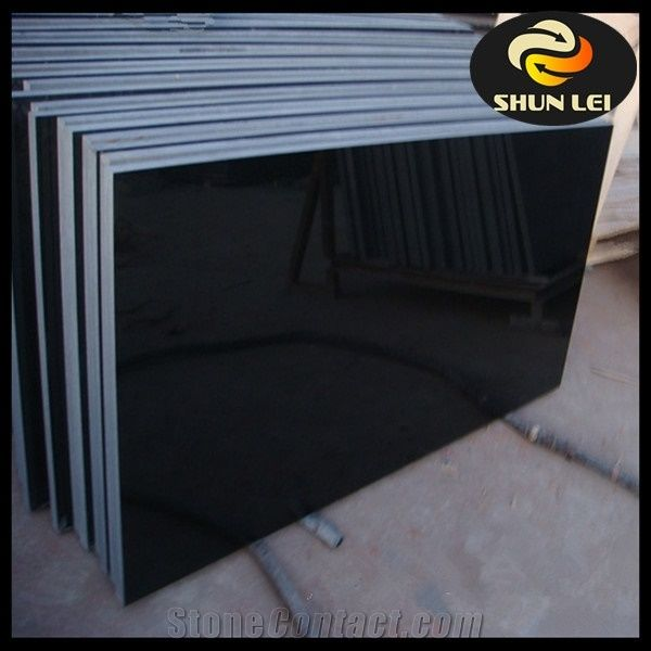 Shanxi Black Granite Slabs Tiles