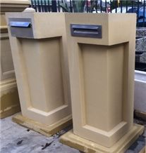 China Yellow Sandstone Exterior Mailbox/ Letter Boxes Simple Design
