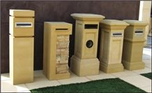 China Yellow Sandstone Letter Box /Mail Box/Exterior Decoration Boxes