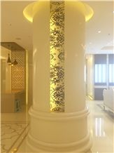 Nano Crystallized Glass Stone Column,Nano Glass Stone for Pillar Interior