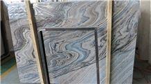 Blue Luana Marble Slabs & Tiles, China Blue Ocean Blue Marble,Sea Wave Grey Marble,Ocean Wave Marble,Jiangya Sea Wave Marble,Jiangya Seawater Marble