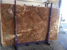 Honey Onyx Tiles & Slabs, Brown Polished Onyx Floor Tiles, Wall Tiles