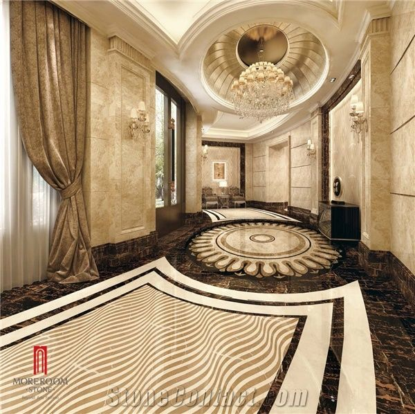 Crema Marfil Marble Amarillion Oro Marble Thin Laminated