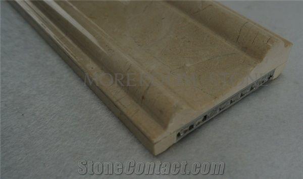 Polished Marble Moulding Backed Honeycomb Iran Marble Stone Shayan