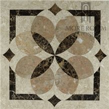 Turkey Feslikan Oscar Beige Marble Composite Marble Panel, Fashion Design Home Decor Marble Price, Composited Marble Waterjet Medallion Tiles