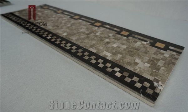 Turkish Grey Marble Casti Grey Marble Mosaic Border Skirtings