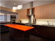 Charmant Orange Quartz Stone Kitchen Countertop/Engineered Stone Kitchen  Top/Artificial Stone Countertop /Solid Surface Top/Quartz Countertop /Silestone