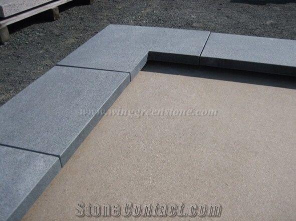 China Granite Pool Pavers,Dark Grey Granite Swimming Pool ...