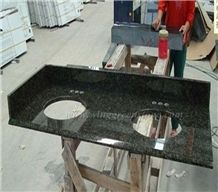 Hot Sale Verde Ubatuba Granite/Green Granite Polished Bath Tops and Vanity Tops