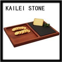 Jiangxi Black Slate Cheese Cutting Board Tray