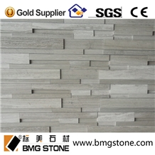 Honed Natural White Wooden Marble Cultural Stone